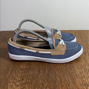 Keds Striped Lace Up Boat Shoe Women's Size 9.5